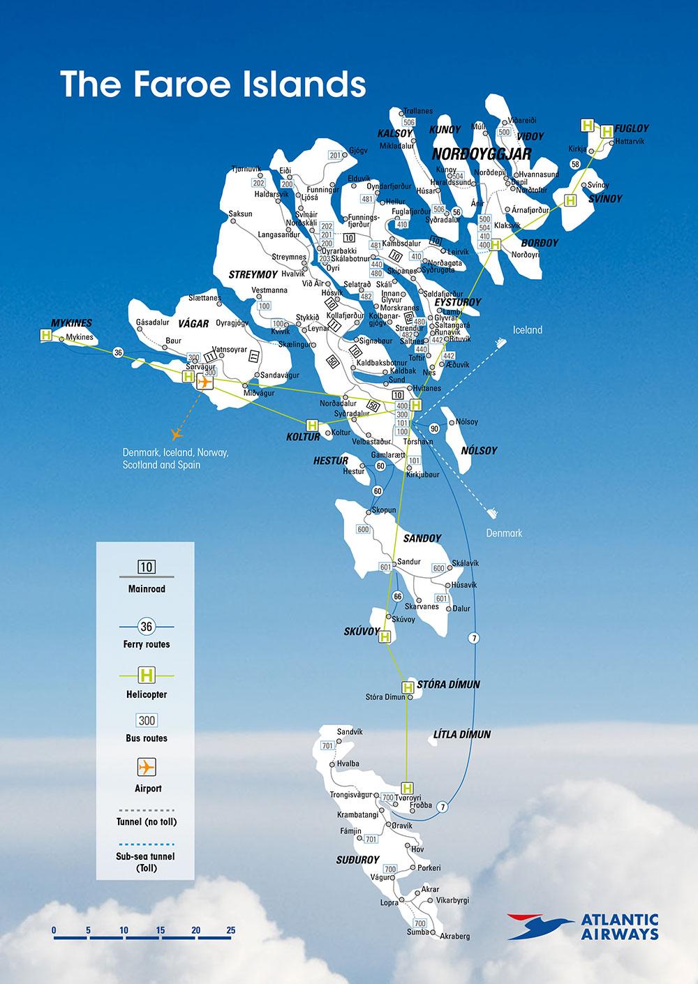 Faroe Islands Map Pdf Share Map